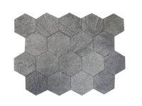 Плитка талькомагнезит шлифованный Соты 90/90