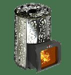 Банная печь с закрытой каменкой Violet Short Window Max Grill D