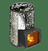 банная печь на дровах Violet Short Window Max Grill D