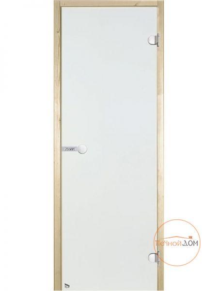 фото HARVIA Двери стеклянные для сауны и бани 7/19 коробка ольха, прозрачная