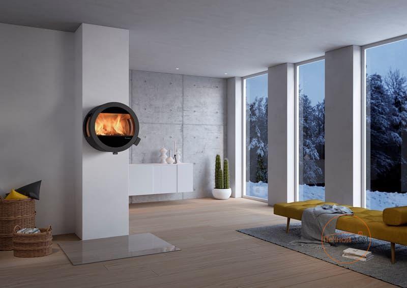 фото Подвесной камин Nordpeis Me Wall с боковыми стеклами