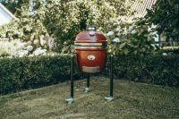 фото Угольный гриль Monolith Junior Pro-Series 2.0 Red с ножками