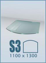 фото Стеклянный подиум для камина S3