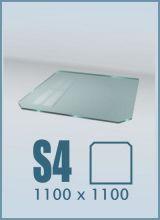 фото Стеклянный подиум для камина S4