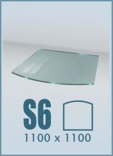 фото Стеклянный подиум для камина S6