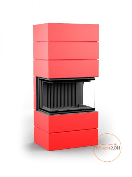 фото Печь-камин Astov Ферро П3С 5357 красный