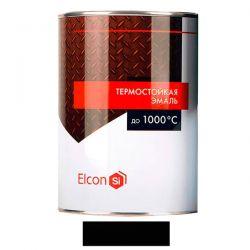 Термостойкая эмаль Elcon черная