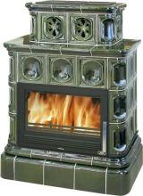 фото Керамический камин Karelie TV 10,5 kW, кафельный цоколь