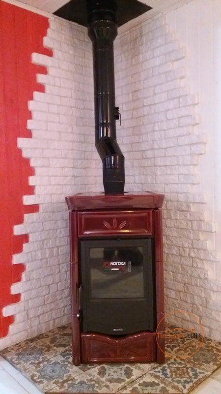 фото Печь-камин изразцовая Nicoletta La Nordica