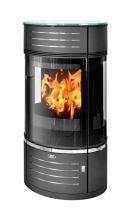 фото Стальная печь-камин Atrium 5 ABX цилиндрической формы