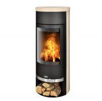 фото Печь цилиндрической формы Vigo черная/мокка крем ABX