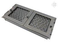 фото Каминная вентиляционная решетка открывающаяся 17*35 Ретро графит