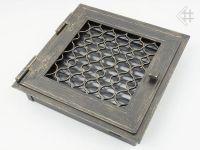 фото Каминная вентиляционная решетка открывающаяся 22*22 Ретро графит