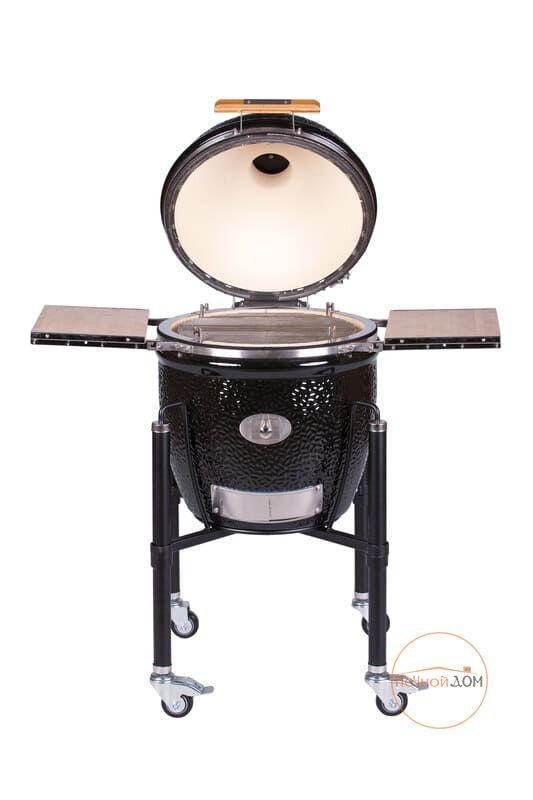 фото Гриль Monolith LeChef Pro-Series 2.0 Black с ножками и боковыми столиками