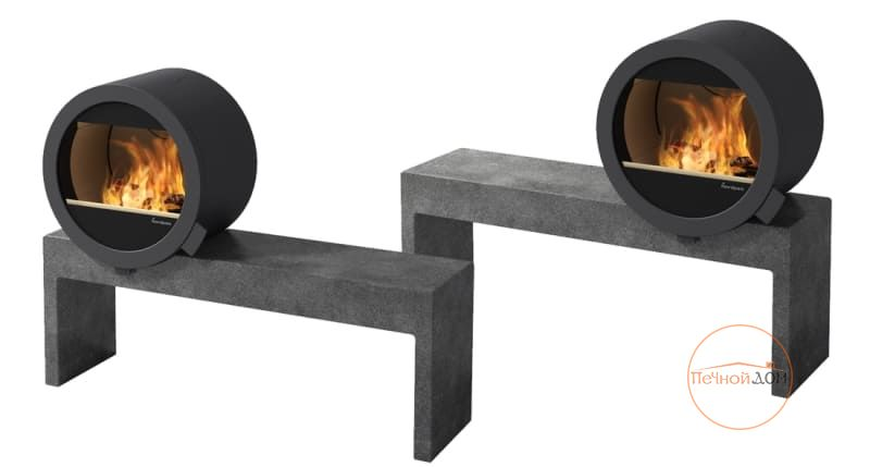 фото Островной камин Nordpeis Me Bench