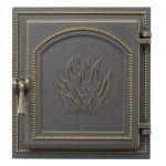 Дверца топочная 271 бронза (250х280)