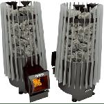 Стальная печь для бани Cometa 180 Vega long black/grey