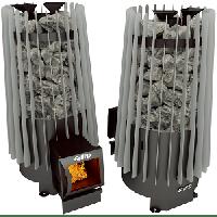 фото Стальная печь для бани Cometa 180 Vega long black/grey