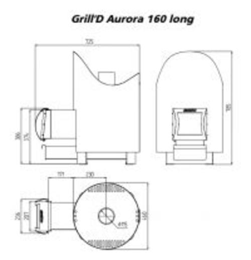 фото Стальная печь для бани Aurora 160 long black