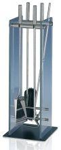 фото Каминный набор Heibi (52299-072) из нержавеющей стали и стекла
