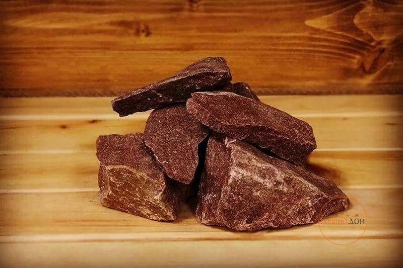 фото Камни для бани Малиновый кварцит 20 кг