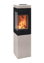 Теплоемкая угловая печь-камин Quadro Colorado
