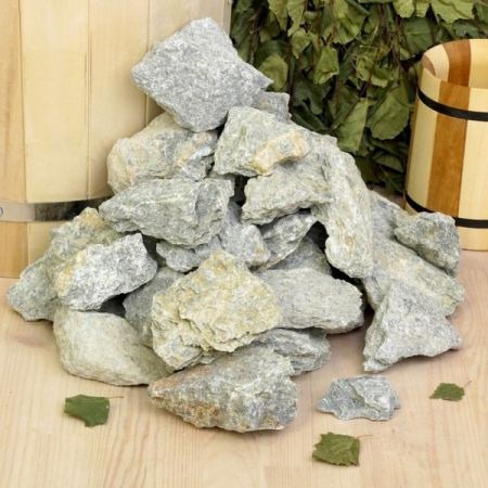 фото Камни для бани Талькохлорит колотый 20 кг