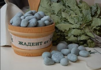 Камни для бани Жадеит шлифованный 5 кг