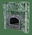 Портал банной печи из змеевика