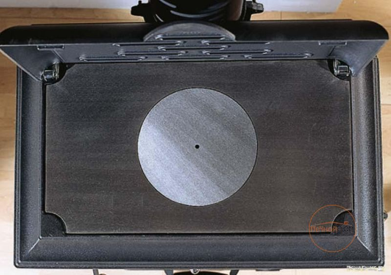 фото Печь-камин с плитой Isetta con cerchi La Nordica