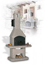 Барбекю с коптильней для загородного дома Atlas с коптильней
