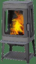 Печь-камин Plamen Authentic 35, эмалированная, серая