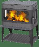 Печь-камин Authentic 50, эмалированная, серая