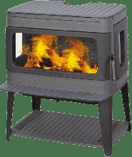 Печь-камин Plamen Authentic 50, эмалированная, серая