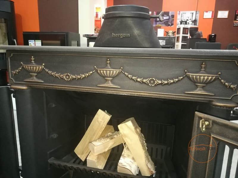 фото Печь-камин под старину Franklin 82 патина