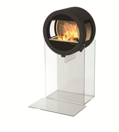фото Дизайнерский камин Nordpeis Me Glass с боковыми стеклами