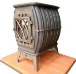 Чугунная печь-камин Бахта патина Прометалл