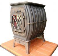фото Чугунная печь-камин Бахта патина Прометалл