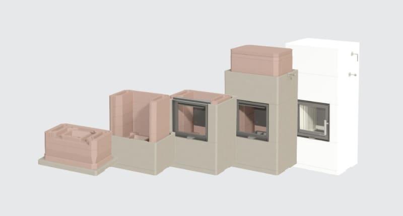фото Печь теплоаккумулирующая Nordpeis Salzburg M II