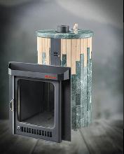 фото Паровая печь с закрытой каменкой Оптима ПФ (Змеевик + Окаменевшее дерево)