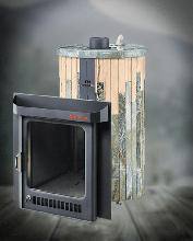 фото Банная печь с закрытой каменкой Оптима ПФ (Жадеит + Окаменевшее дерево)