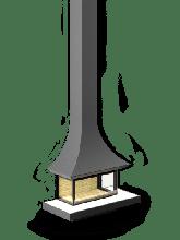 фото Трехсторонний пристенный камин АРТ П3С 12060/1200 серия Astov