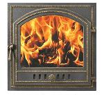 Дверца каминная 205 бронза (415х415)