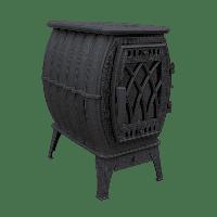 Чугунная цельнолитая печь Бахта 2020 черная Прометалл