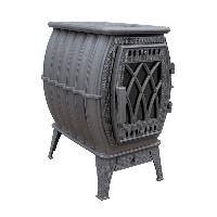 Бахта 2020 чугунная цельнолитая печь серая Прометалл
