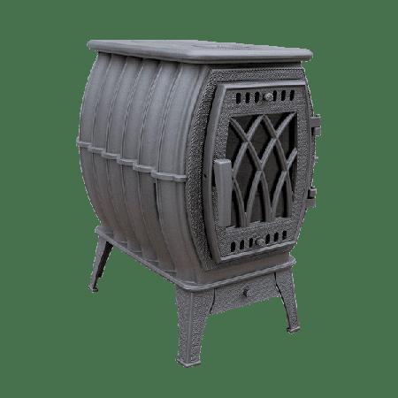 фото Бахта 2020 чугунная цельнолитая печь серая Прометалл