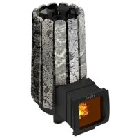 фото Металлическая печь для бани Cometa 180 Vega Long Window Max Stone Grill D