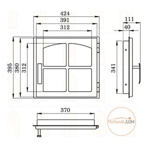 """фото Стальная дверка """"ДЕ424-1К"""""""