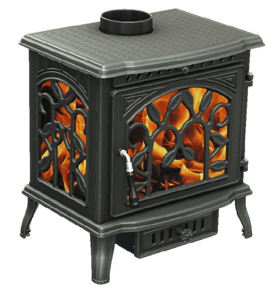 фото Печь Demetra три стекла, чугун Fireway