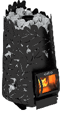 фото Печь для бани из котловой стали Grill'D Dubravo 180 Short black